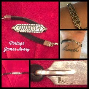Unisex VINTAGE JAMES AVERY WWJD bracelet